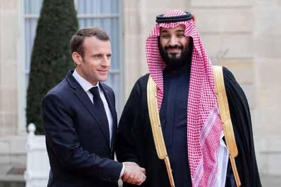 سعودی ولی عہد کا دورہ فرانس، صدر میکراں سے ملاقات