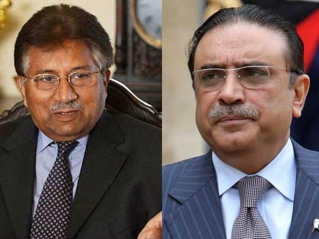 این آراو سے متعلق درخواست پر پرویز مشرف اور آصف زرداری کو نوٹس جاری