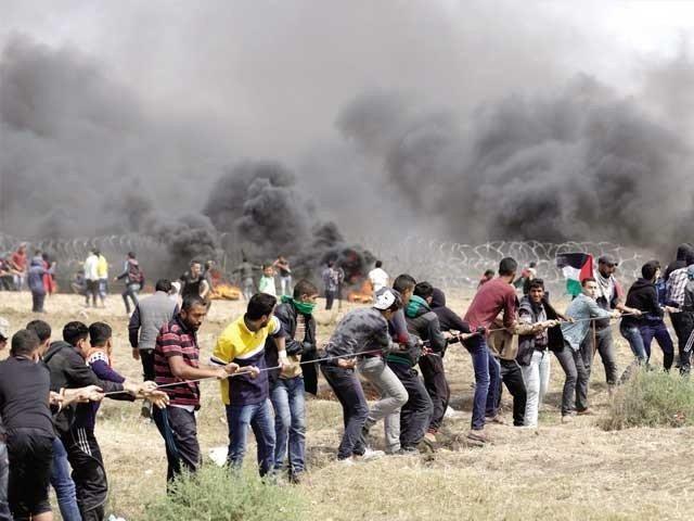 اسرائیلی فوج کی فائرنگ سے 6 فلسطینی شہید، 950 سے زائد زخمی
