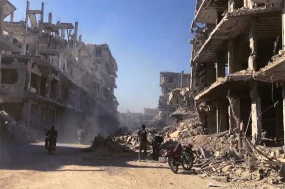 شام : دوما، غوطہ پر کیمیائی حملے، بمباری، 100 ہلاک