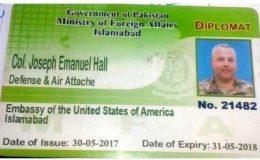 پاکستانی شہری کو کچلنے والا امریکی سفارتکار کرنل جوزف امریکا روانہ
