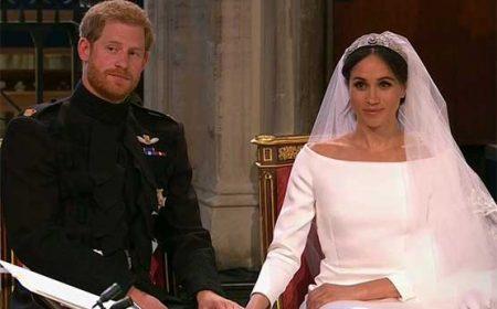 شہزادہ ہیری اور میگھن مرکل شادی کے بندھن میں بندھ گئے
