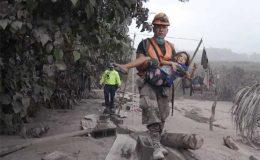 گوئٹے مالا: آتش فشاں پھٹنے سے ہلاکتیں 114 ہو گئیں