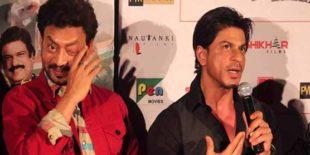 شاہ رخ خان نے بیمار عرفان خان سے دوستی کا حق نبھایا