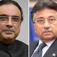Asif Zardari and Pervez Musharraf