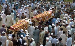 پشاور خودکش حملہ: تحقیقات کیلئے جے آئی ٹی تشکیل، ہارون بلور کی نماز جنازہ ادا