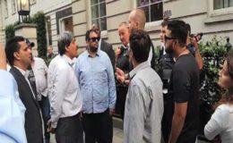نواز شریف کی رہائشگاہ کے باہر احتجاج، 2 پی ٹی آئی، ایک لیگی کارکن گرفتار